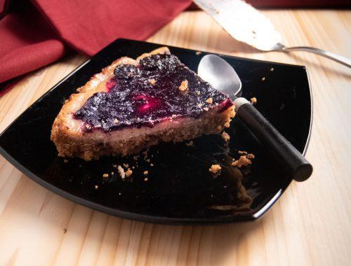 cheesecake vegan ai mirtilli