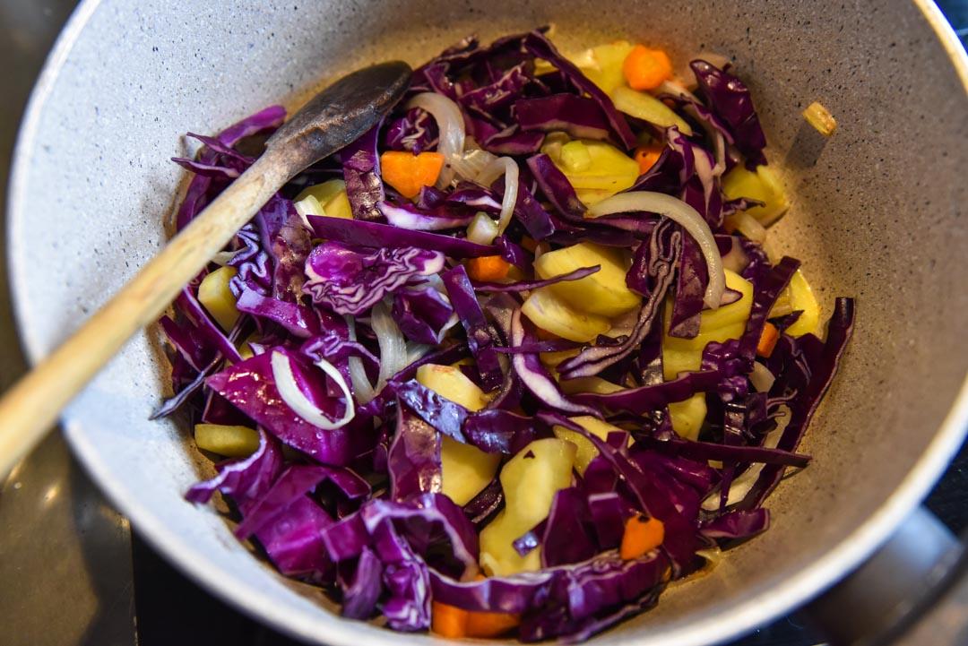 preparazione della zuppa