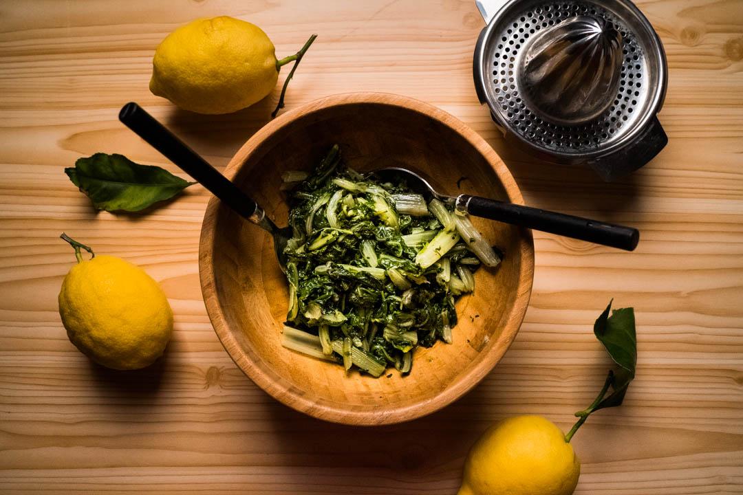bietole con olio e limone